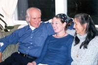 The three of us, Dec. 2001