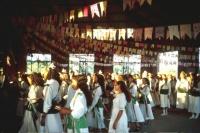Women dancing in church