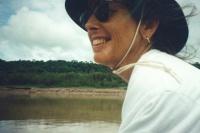 Traveling via canoe